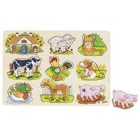 Gry dla dzieci, Dżwiękowa układanka - zwierzęta wiejskie - Goki. DARMOWA DOSTAWA DO KIOSKU RUCHU OD 24,99ZŁ
