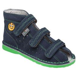 Kapcie profilaktyczne buty DANIELKI T105E T115E Jeans Zielony - Granatowy ||Jeans ||Zielony ||Multikolor