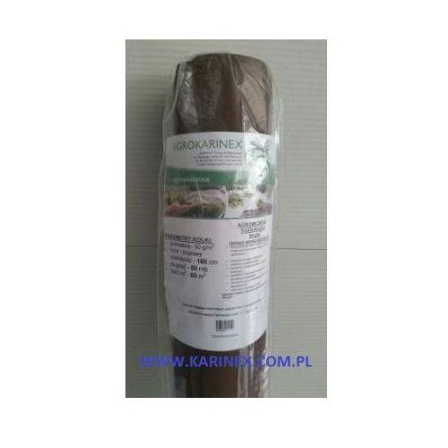 Folie i agrowłókniny, Agrowółknina ściółkujaca PP 50 g/m2 brązowa 1,6 x 50 mb. BEZ UV.