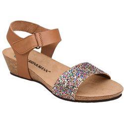 Sandały buty Dr Brinkmann 710783-2 Brązowe - Brązowy ||Brokat ||Multikolor