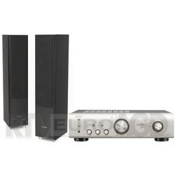 Denon PMA-520AE (srebrny), Pylon Audio Coral 25 (czarny)