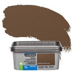Farba wewnętrzna NARAŻONYCH NA ZABRUDZENIA 2.5 l Mleczna czekolada LUXENS