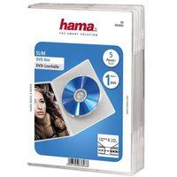 Pudełka i portfele na płyty, DVD SLIM BOX PRZEZROCZYSTE.5P.