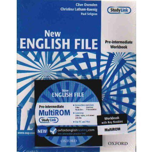 Książki do nauki języka, New English File pre-intermediate Workbook with key + Cd (opr. broszurowa)