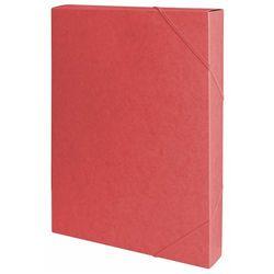 Teczka z gumką przestrz. OFFICE PRODUCTS, preszpan, A4/40, 450gsm, czerwona