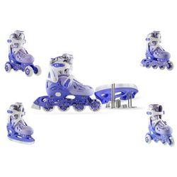Łyżwy hokejowe 4w1 regulowane NH0320A Nils - Niebieski - Niebieski
