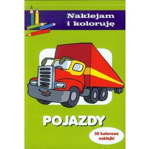 Książki dla dzieci, Naklejam i koloruję - Pojazdy (opr. miękka)