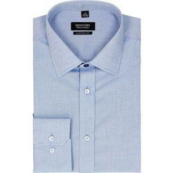 koszula bexley 2296 długi rękaw custom fit niebieski