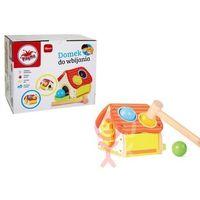 Zabawki z drewna, Domek z młotkiem do wbijania kulek