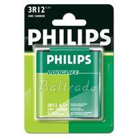 Baterie, bateria cynkowo-węglowa Philips LongLife 3R12 - płaska (blister)