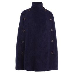 J.CREW MASON BUTTON CAPE Ponczo navy
