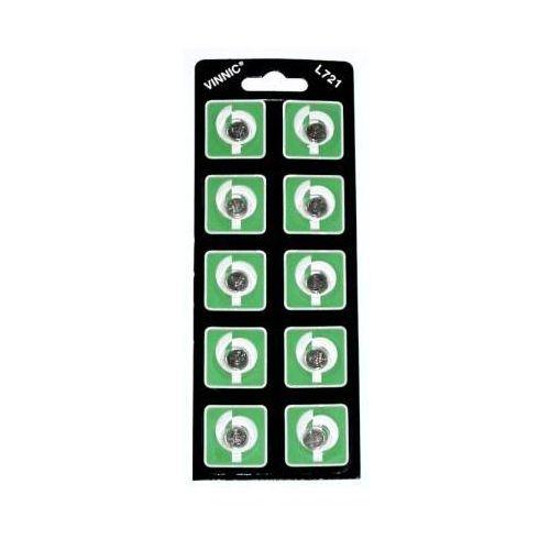 Baterie, 10 x bateria alkaliczna mini Vinnic G11 / AG11 / L721 / SR720 / SR58 / 362 / 532 / 19 / RW310