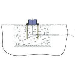 Śruba kotwowa z szablonami fundamentu, do fundamentu 1450x1450 mm, do nośności 5