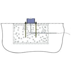Śruba kotwowa z szablonami fundamentu, do fundamentu 1750x1750 mm, do nośności 1