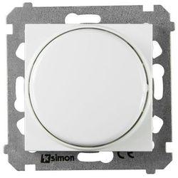 Ściemniacz przyciskowo-obrotowy SIMON 54 Biały KONTAKT SIMON