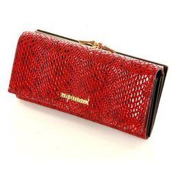Ekskluzywny portfel ze skóry naturalnej 0621A Red - Monnari