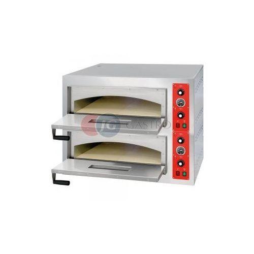 Piece i płyty grzejne gastronomiczne, Piec do pizzy 2-komorowy 2x4x32 cm Stalgast 781024