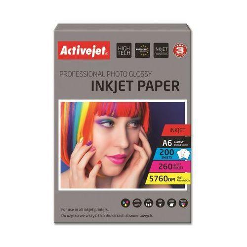 Papiery fotograficzne, Activejet Papier fotograficzny (AP6-260GR200) 200 ark Darmowy odbiór w 21 miastach!