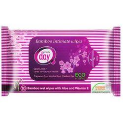 GENTLE DAY 10szt Nawilżane chusteczki z włókna bambusowego do higieny intymnej