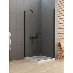 New Trendy New Soleo Black kabina prostokątna drzwi 100 x 90 cm wspornik równoległy wys. 195 cm, szkło czyste 6 mm D-0232A/D-0115B-WP