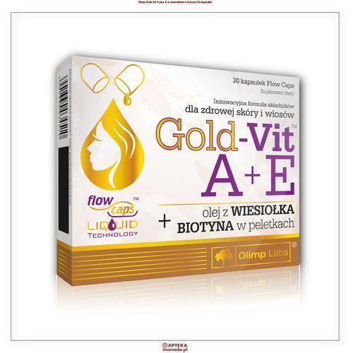Preparaty na włosy, skórę i paznokcie, Olimp Gold-Vit A+E z wiesiołkiem i biotyną 30 kapsułek