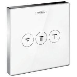 Hansgrohe.zawór odcinający dla 3 odbiorników, montaż podtynkowy, element zewnętrzny ShowerSelect Glass 15736400