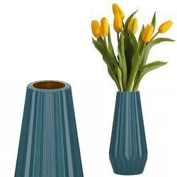 Wazon 21cm nietłukący na kwiaty do salonu, kuchni morski nowoczesny