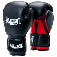 Rękawice do walki, Rękawice bokserskie Allright Master PU czarno-czerwony 2053