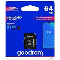 Karty pamięci, GOODRAM microSDXC 64GB class 10 UHS I + adapter - M1AA-0640R12