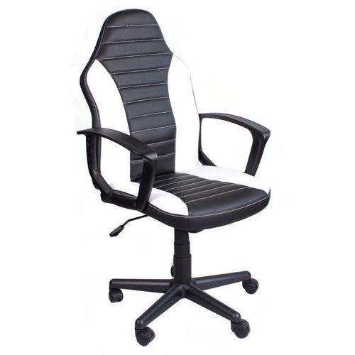 Fotele dla graczy, Fotel biurowy FBE czarno-biały