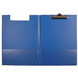 Teczka z klipem i okładką A4 niebieska Biurfol KH-04-01