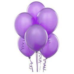 Balony lateksowe pastelowe fioletowe - średnie - 100 szt.