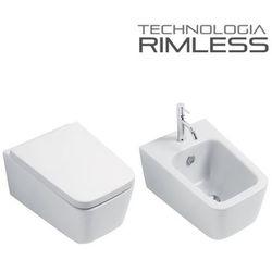 Muszla wc CUBIC RIMLESS +bidet +deska