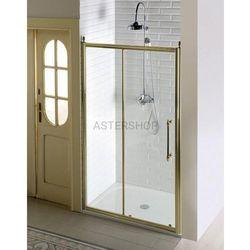 ANTIQUE Drzwi prysznicowe do wnęki przesuwne 140x190 cm szkło czyste, kolor brąz GQ4214C