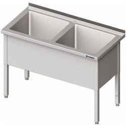 Stół z basenem dwukomorowym 1600x600x850 mm   STALGAST, 981406160