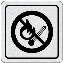 Tabliczka na drzwi -Zakaz wejścia z otwartym ogniem