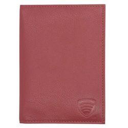 Skórzane etui RFID choni paszport biometryczny (Czerwony) - Czerwony