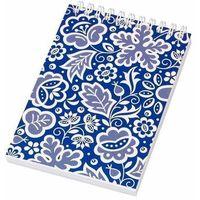 Notesy, Notes FOLK na spirali-format A6-kujawski niebieski