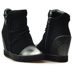 Sneakersy Sergio leone 28875 Czarne nubuk