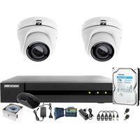 Zestawy monitoringowe, UTP Skrętka Monitoring 4MPx HWD-6104MH-G2 2 x HWT-T140-M 1TB Samodzielny montaż