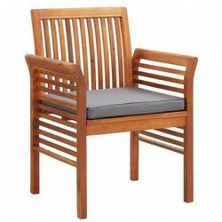 Krzesło drewniane z poduszką Kioto - popiel