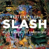 Rock, World On Fire [blue & Yellow] - Slash (Płyta winylowa)