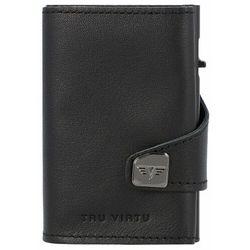 Tru Virtu Click & Slide Etui na karty bankowe Portfel RFID skórzany 6,5 cm black-black ZAPISZ SIĘ DO NASZEGO NEWSLETTERA, A OTRZYMASZ VOUCHER Z 15% ZNIŻKĄ