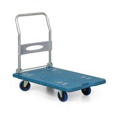 Wózek platformowy ze składaną rączką, 900 x 600 mm, nośność 300 kg
