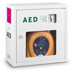 Szafka metalowa HS-021 do defibrylatorów AED 39x39x19 - biała