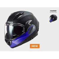 Kaski motocyklowe, KASK MOTO LS2FF900 VALIANT II HAMMER MATT BLACK BLUE nowość 2020 roku