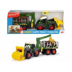 Traktorek happy fendt leśny zestaw dickie