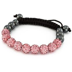 BRANSOLETKA SHAMBALLA EXCLUSIVE DIAMONDS LIGHT ROSE - LIGHT ROSE