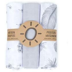 MAMO-TATO Pieluszki muślinowe dla niemowląt 3szt 80x80 + myjka - 1