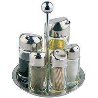 Pojemniki na przyprawy, Zestaw do przypraw pięcioelementowy o średnicy 160 mm | APS, 40485